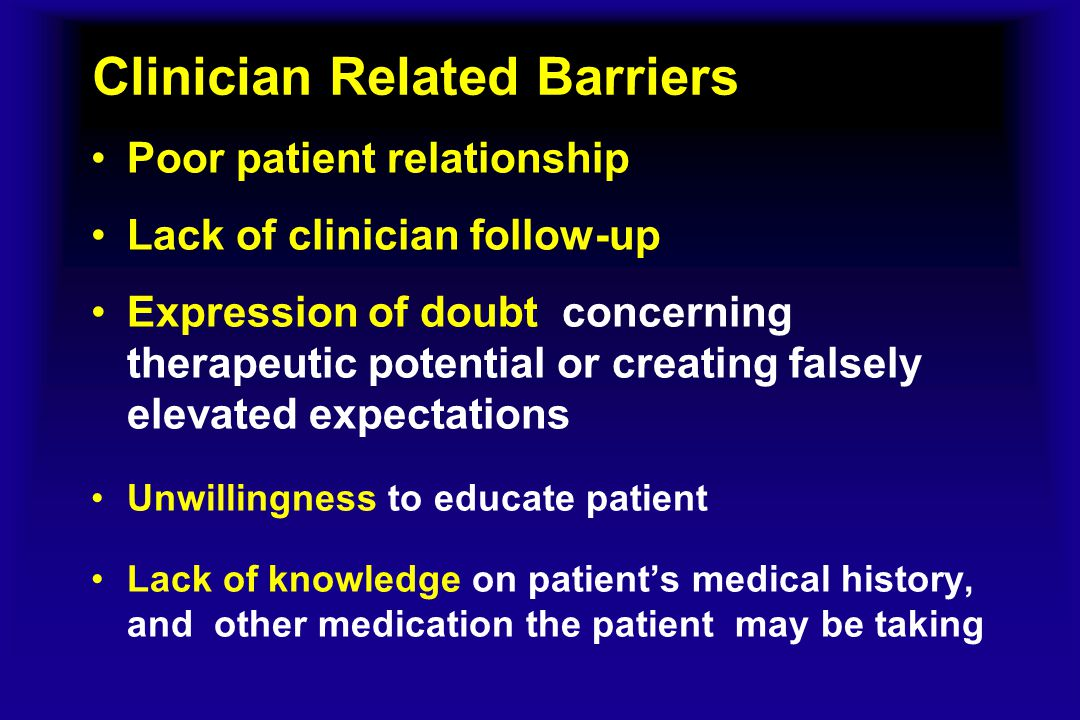 clinician and patient relationship