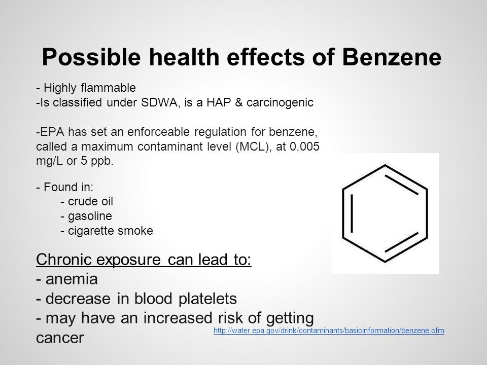 Possible health effects of Benzene
