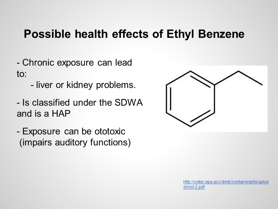 Possible health effects of Ethyl Benzene