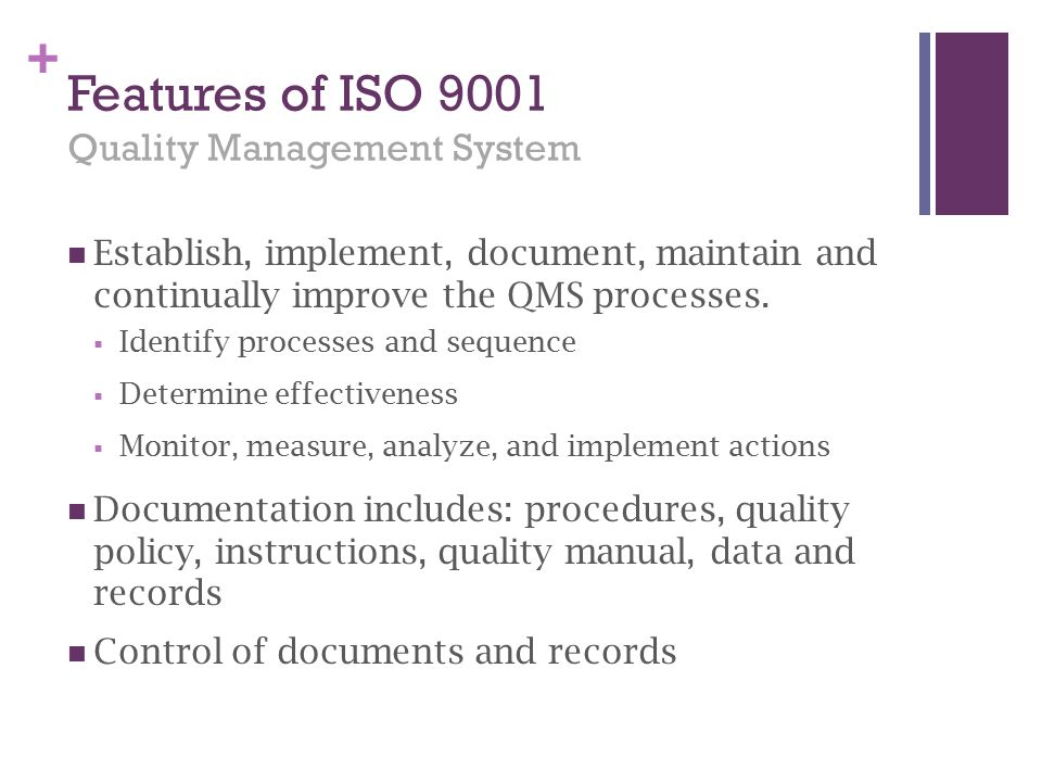 Features of ISO 9001 Quality Management System