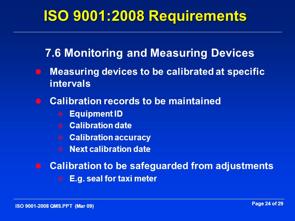7.6 Monitoring and Measuring Devices