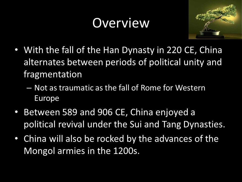 an overview of the chinas han dynasty During the ancient china eras, the han dynasty was considered a very intellectual society, they achieved many remarkable achievements in technology and sciences that significantly improved the quality of life.