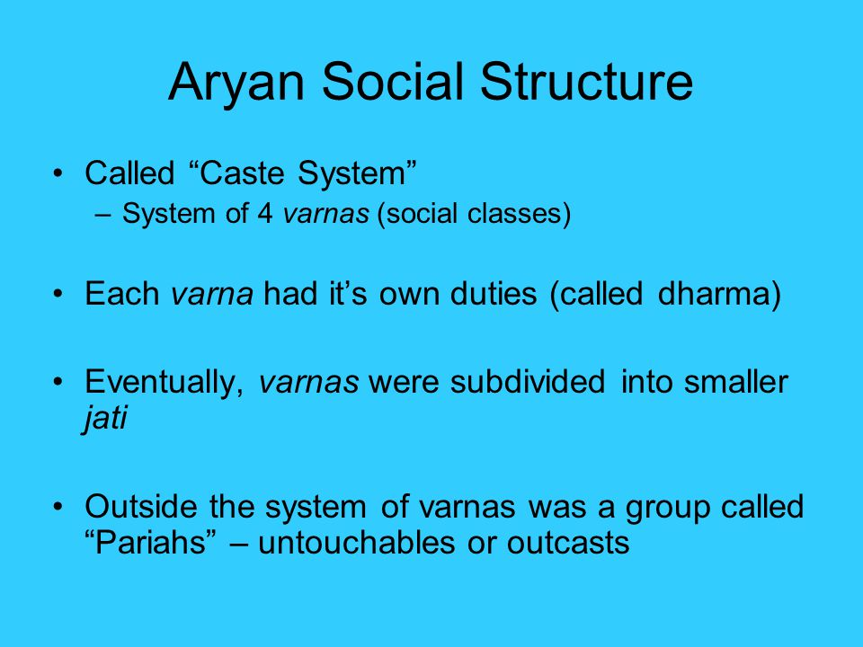 composition of aryan society The indo- aryan society believed in many gods the aryans believed that many natural events were being influenced by their gods these peopl.