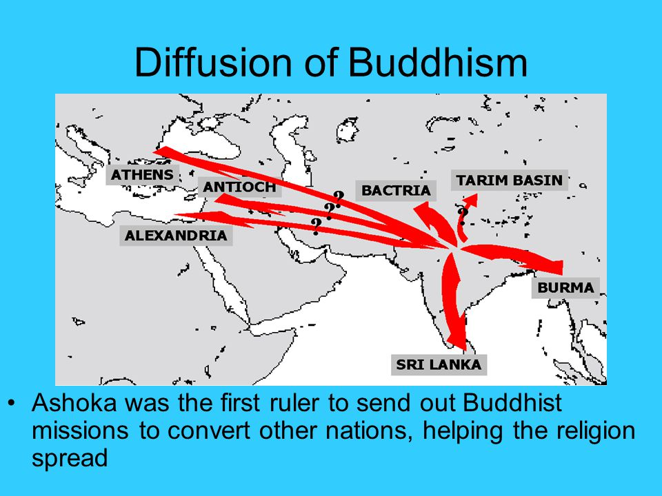 diffusion of buddhism and christianity similarities This is a chart i use with my students to compare five major world religions-- judaism, christianity, islam, hinduism and buddhism it is meant to have the students learn the basics and be able to know the major aspects of all the religions.