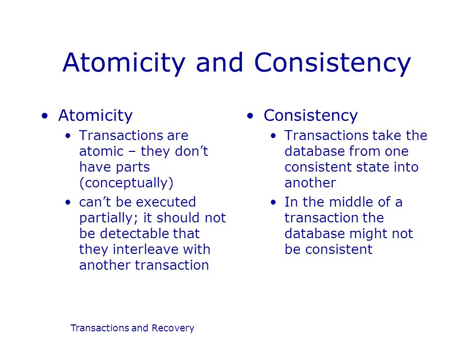 how to achieve atomicity in database