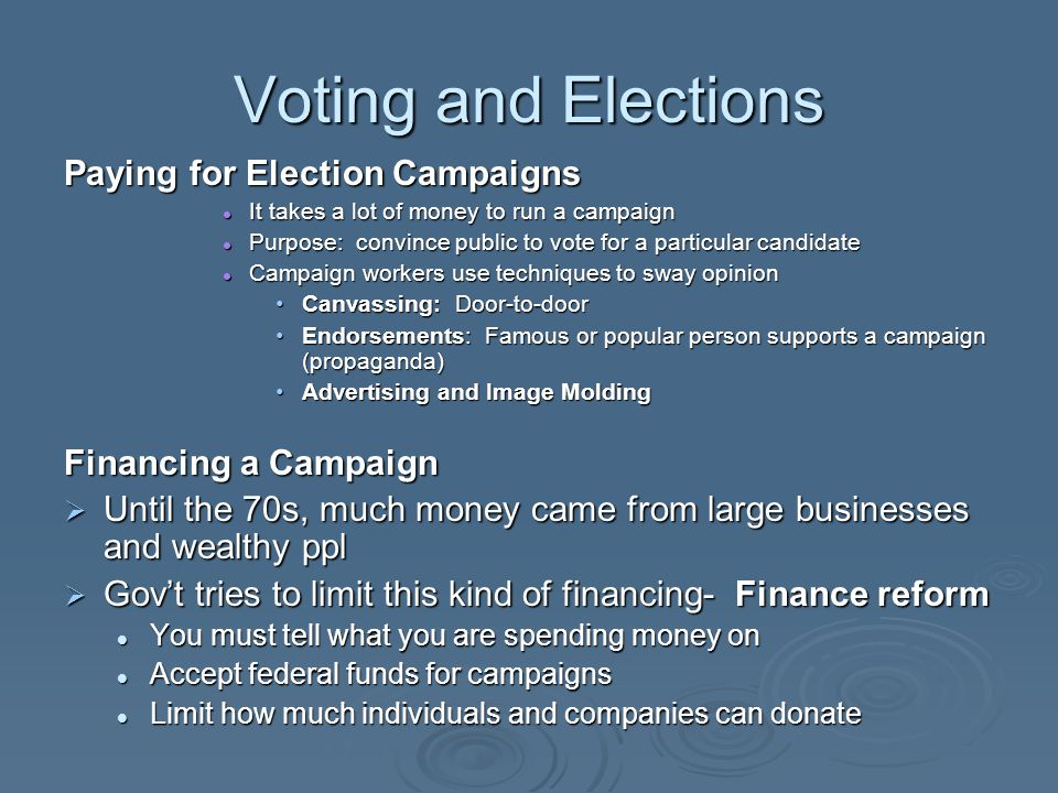 elections voting and campaigns Content filed under the campaigns and elections taxonomy.