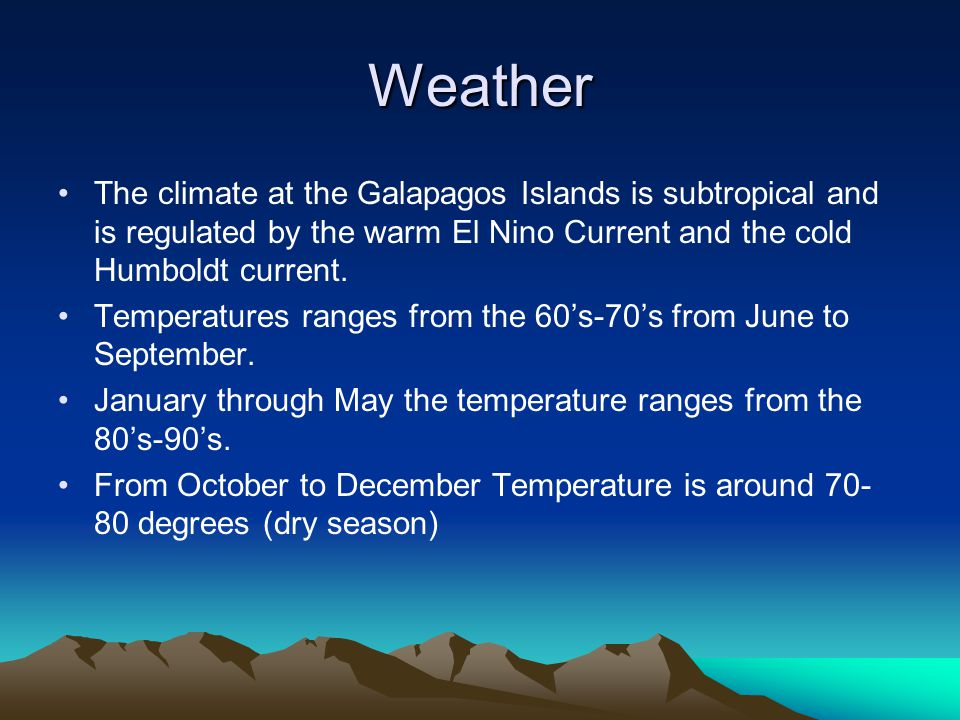 Galapagos Island Weather In January