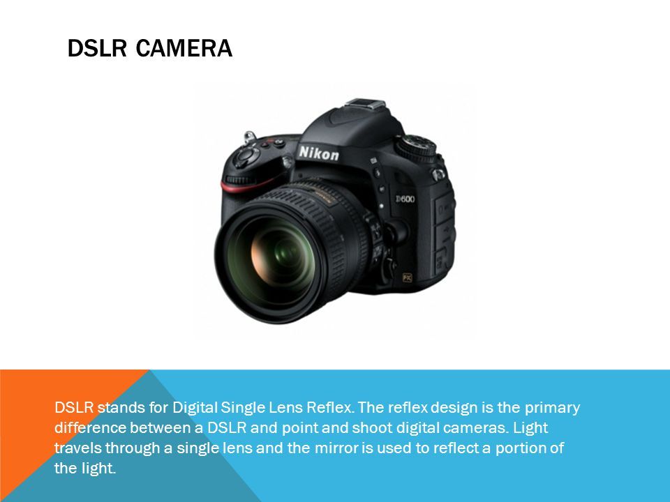 Parts and Functions of a DSLR Camera