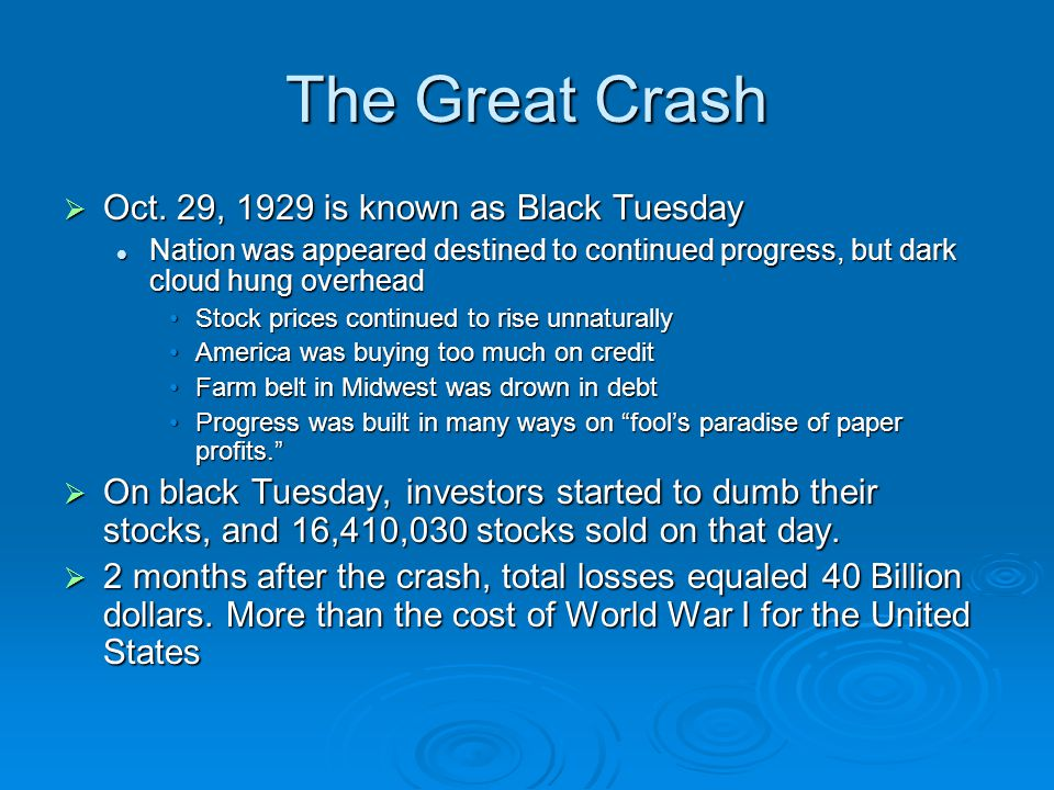 the second great crash essay Crash course us history 15: 19th century reforms important terms utopian communities shakers mormons oneida the second great awakening abolitionism frederick douglass 1.