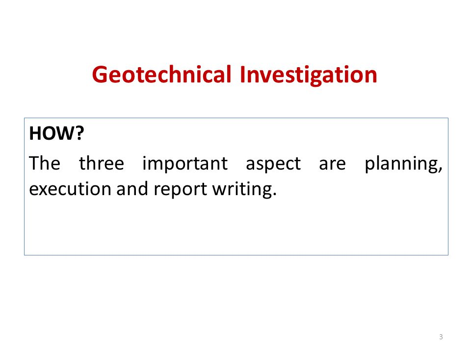 Soil exploration module 1 2k6 march gcek ppt video for Soil investigation report