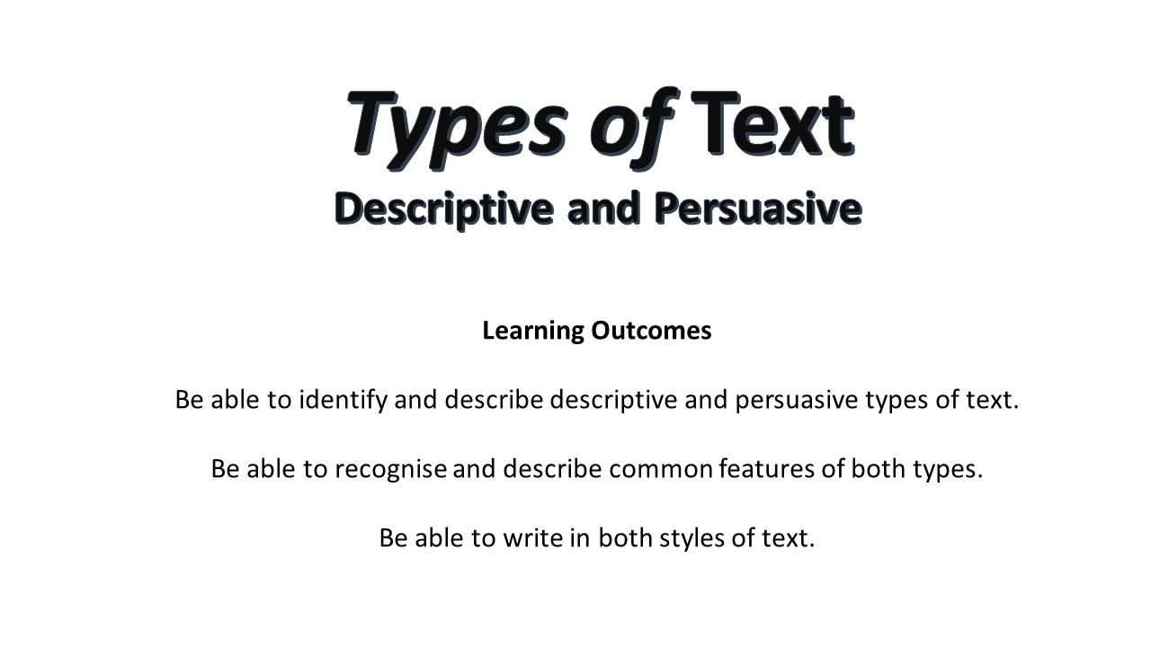 descriptive style of writing This page covers the key aspects of formal and informal writing styles before deciding which style is appropriate to your message you should read our page: know your.
