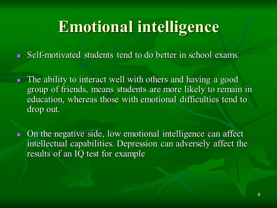 emotional intelligence correlates with depression Neural correlates of emotional intelligence in adolescent children article from: cognitive, affective and behavioral neuroscience article date: june 1, 2007 author.