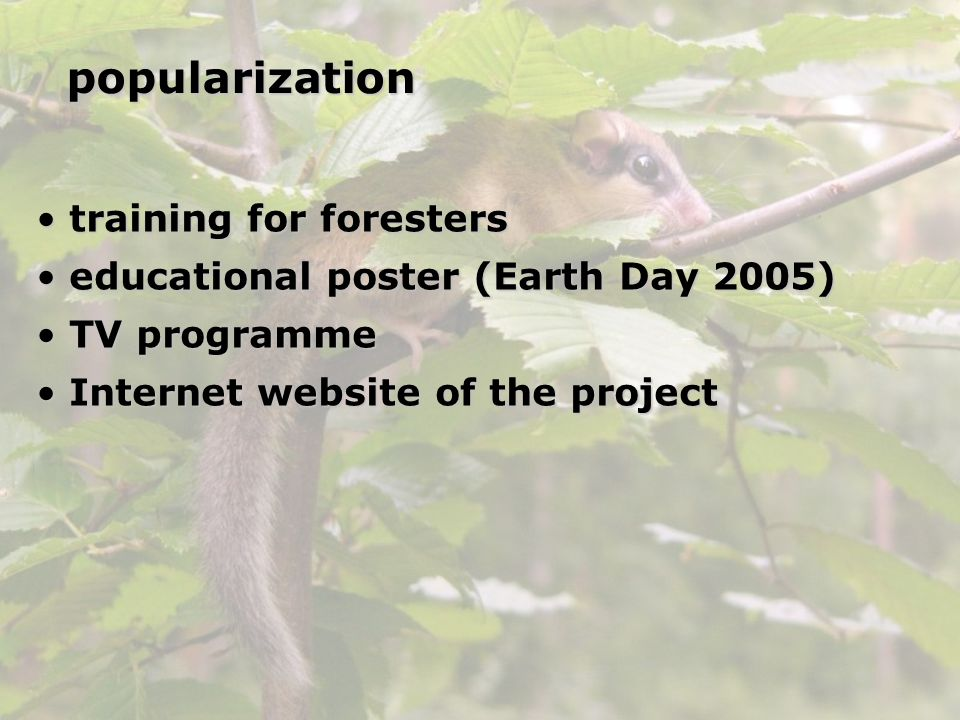 popularization training for foresters
