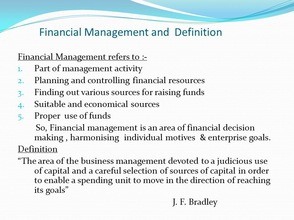 Financial Management and Definition