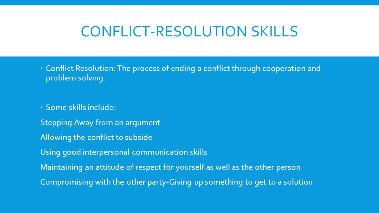 Conflict-Resolution Skills
