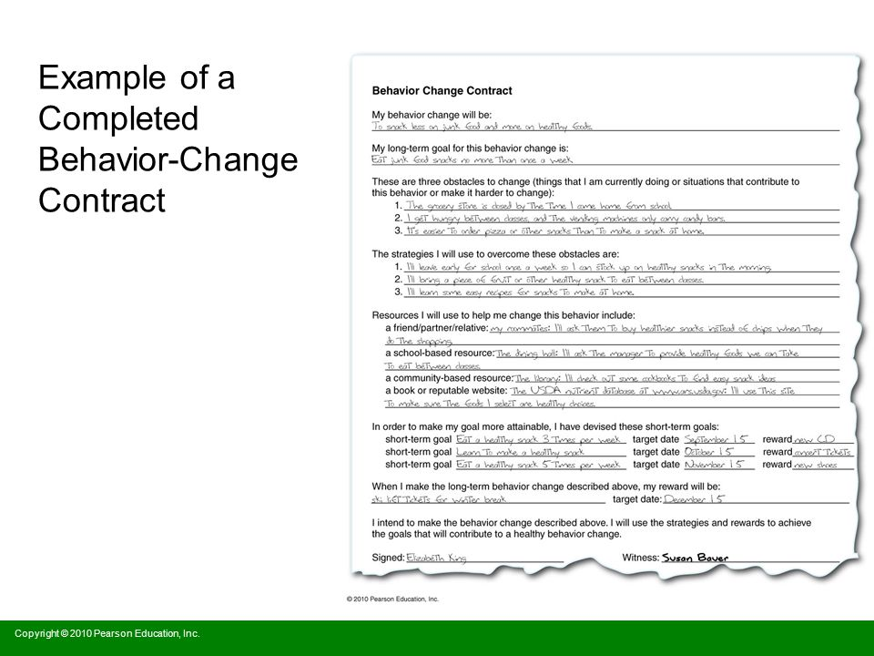behavior change paper My overall experience with the behavior change project was positive, as i was able to successfully change my sleeping habits although there were times when sticking to my behavior change plan was extremely difficult, i was able to stay on track and change my sleeping habits as a result of my .