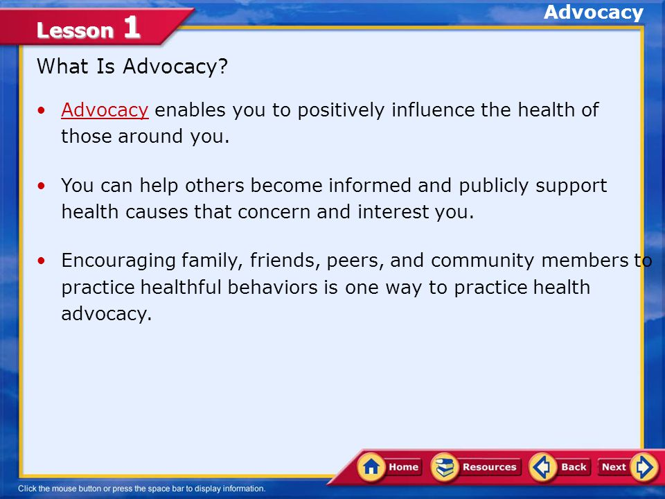 What Is Advocacy Advocacy