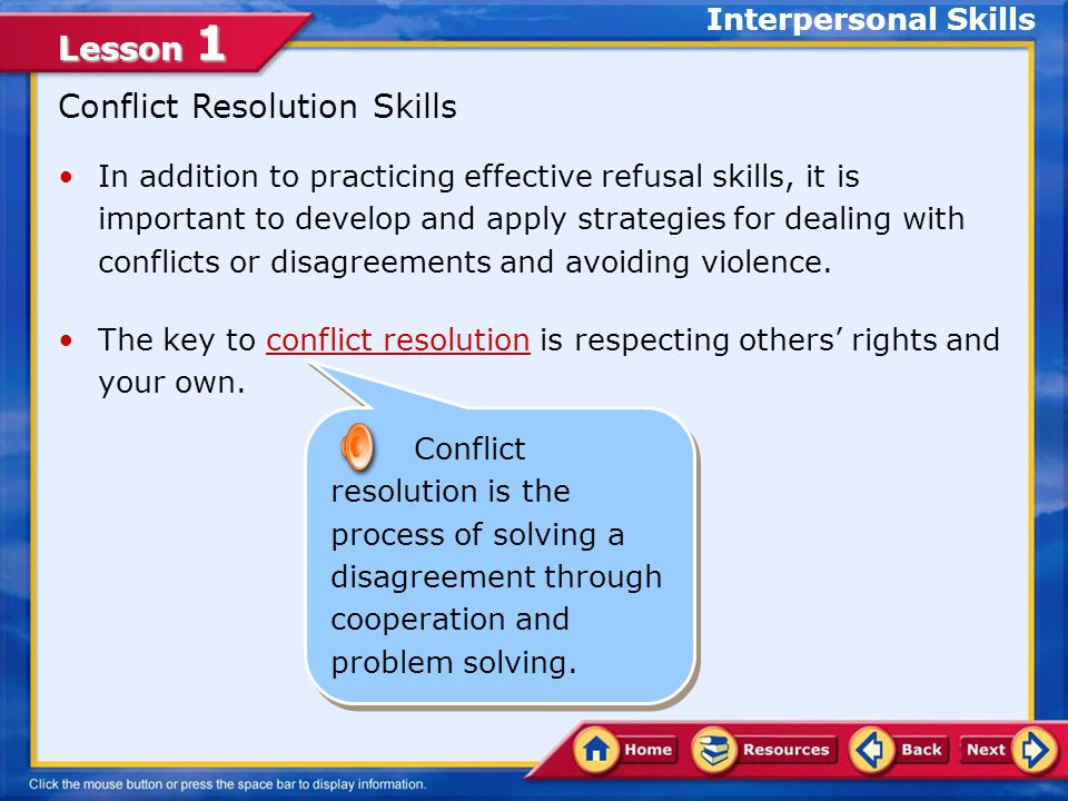 Conflict Resolution Skills