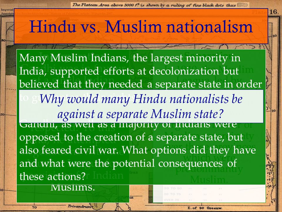 Hindu vs. Muslim nationalism