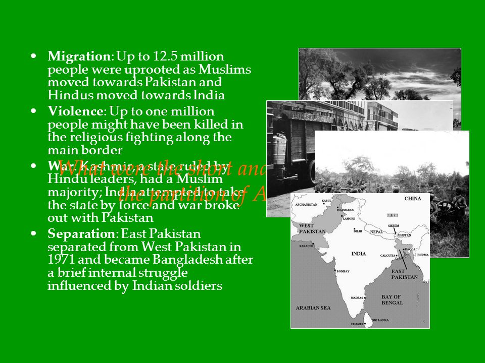 Migration: Up to 12.5 million people were uprooted as Muslims moved towards Pakistan and Hindus moved towards India
