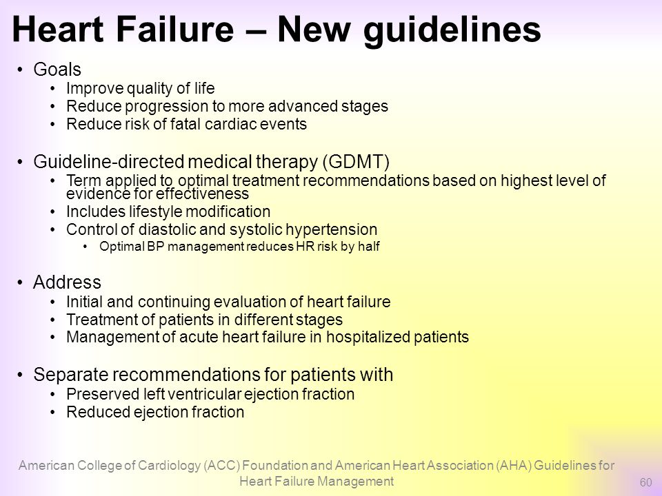 """treatment and quality of life of heart failure patients """"many patients live long and productive lives with controlled and stable congestive heart failure,"""" says marc leavey, an internist who has treated many patients with congestive heart failure """"those in the lower stages of failure, if properly managed, can hope to have a near normal life expectancy""""."""