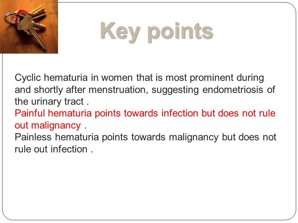 Presentation and management of patients with hematuria and ...