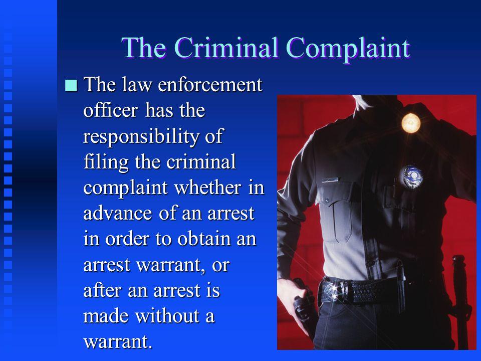 The Criminal Complaint