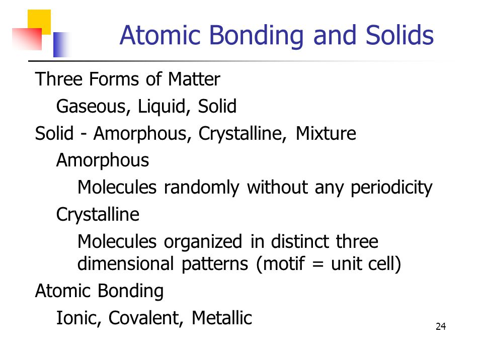 bonding in solids That the principles of chemical bonding in solids must be rationalized an  impressive progress, achieved in theory, computational methods and not.