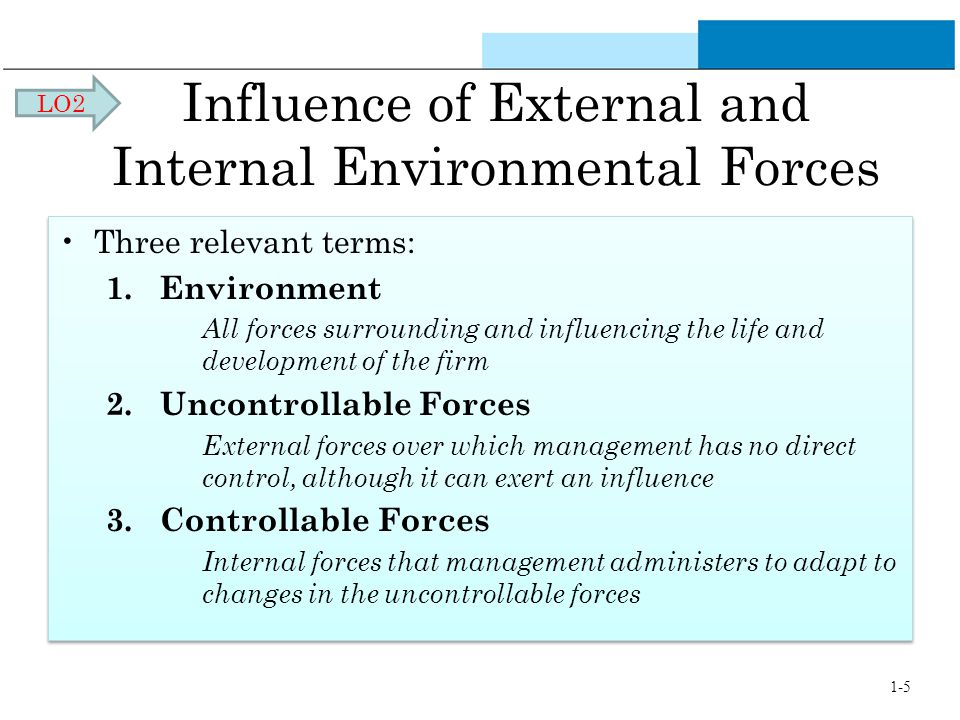 the impact of internal and external environment on the business success Internal influences are things that have the potential to affect business  performance  managers can often determine the success or failure of a  business through decisions to  there are both internal and external  stakeholders in a business.