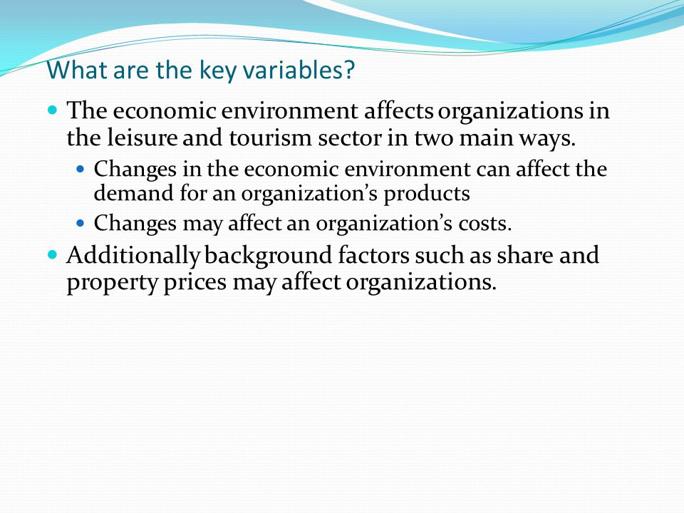 main factors affecting tourism supply Factors affecting performance management system outcomes journal of information technology management volume  three main pms outcomes and the other variables in the.