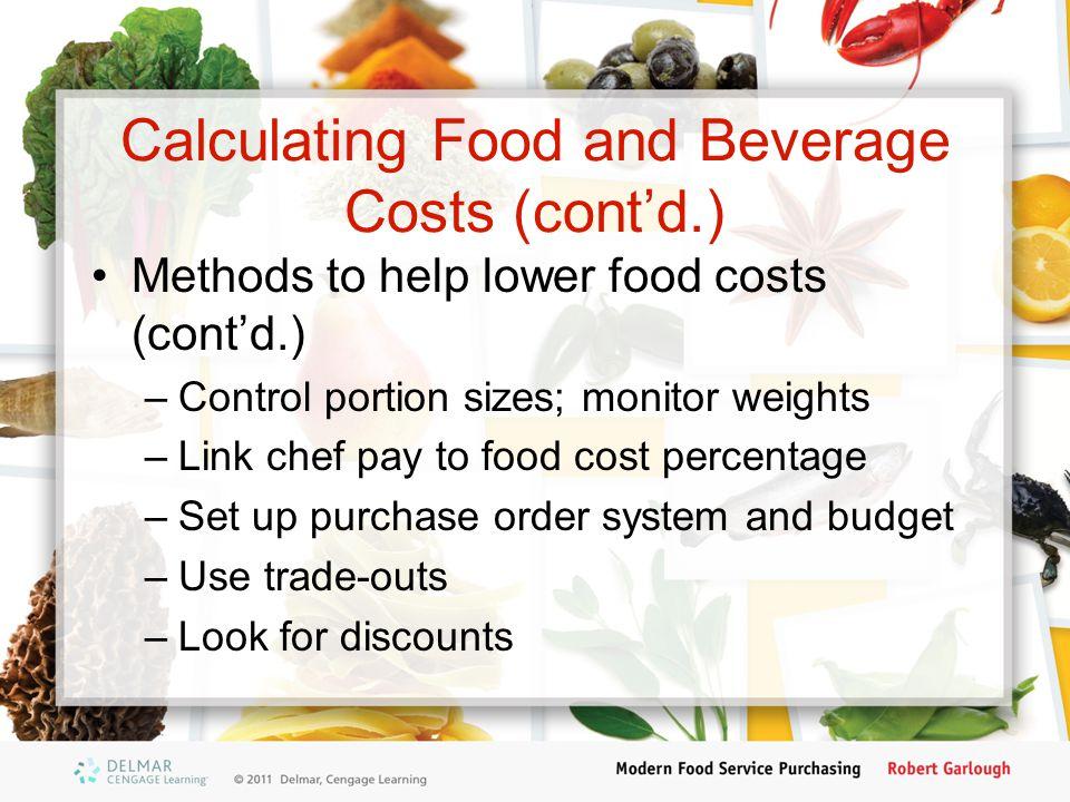 food cost percentage formula pdf