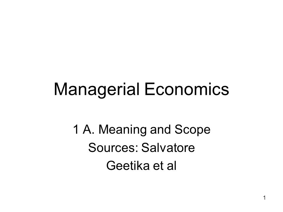 meanning of managerial economics