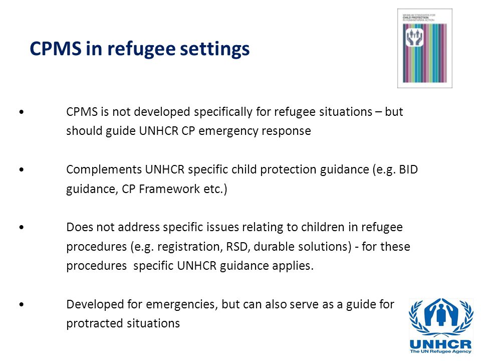 CPMS in refugee settings