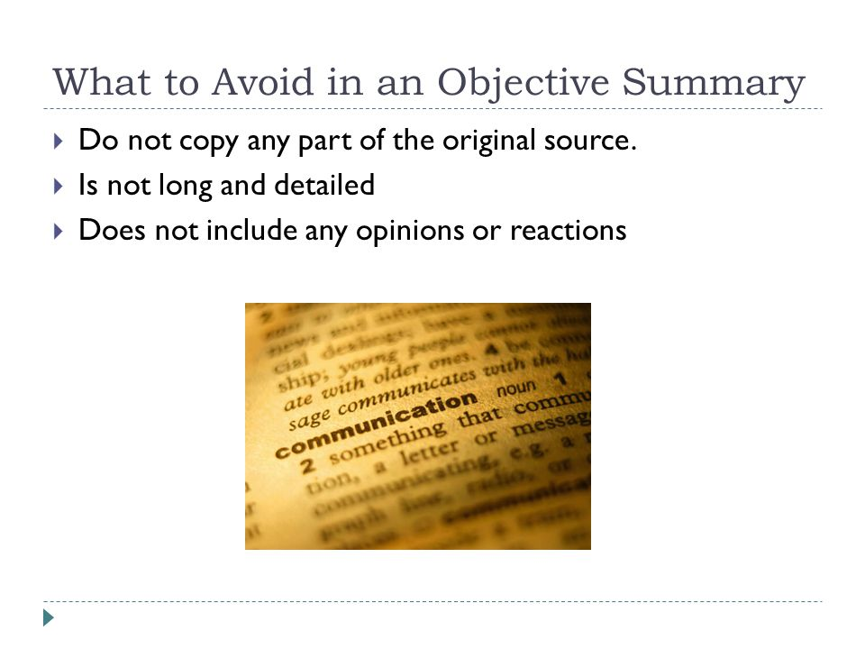 Grade 8: Writing an Objective Summary (Abby Sparrow)