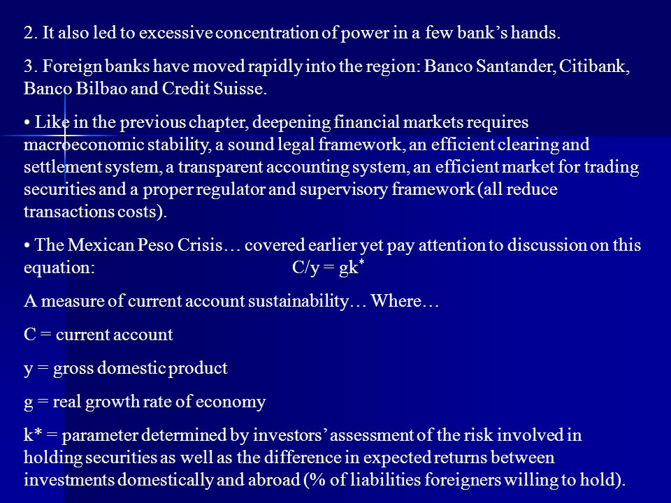 2. It also led to excessive concentration of power in a few bank's hands.