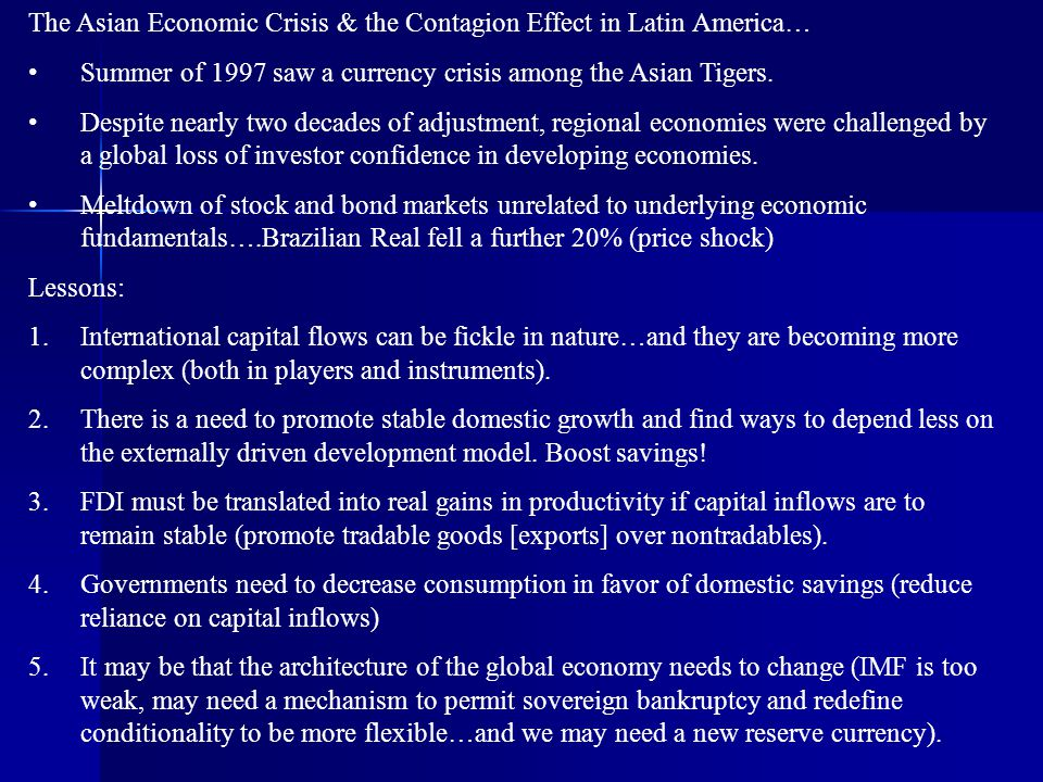 The Asian Economic Crisis & the Contagion Effect in Latin America…