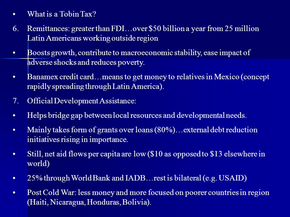 7. Official Development Assistance: