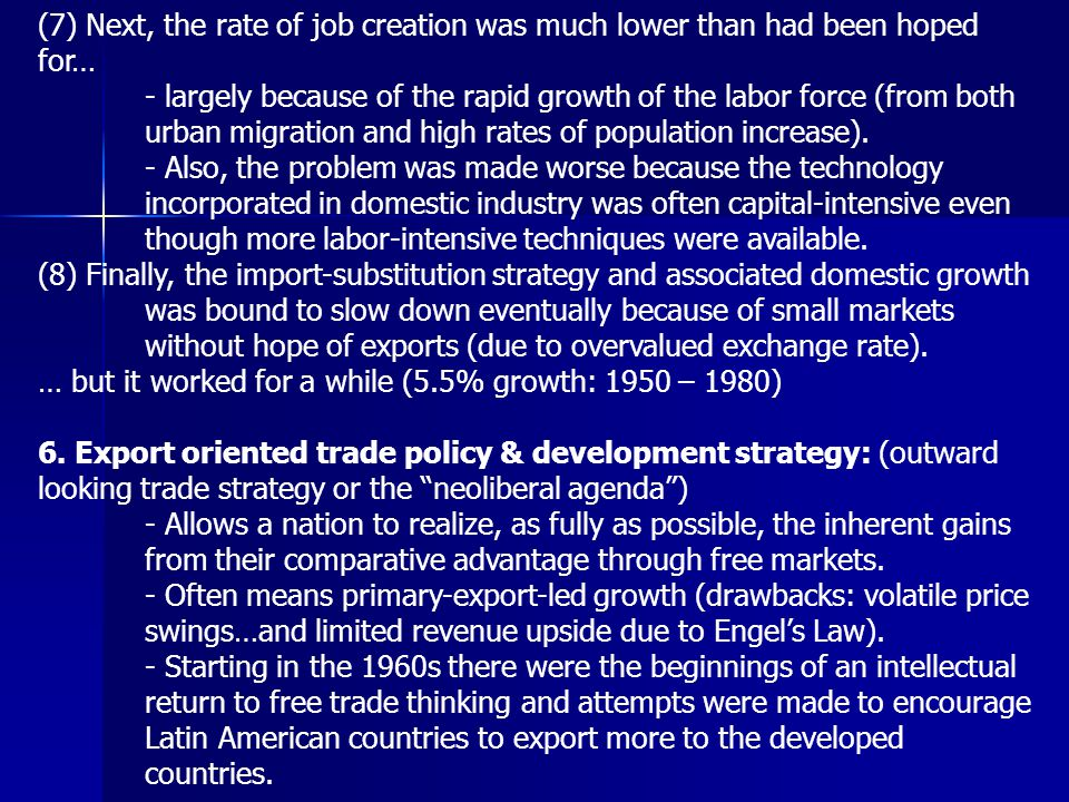 (7) Next, the rate of job creation was much lower than had been hoped for…