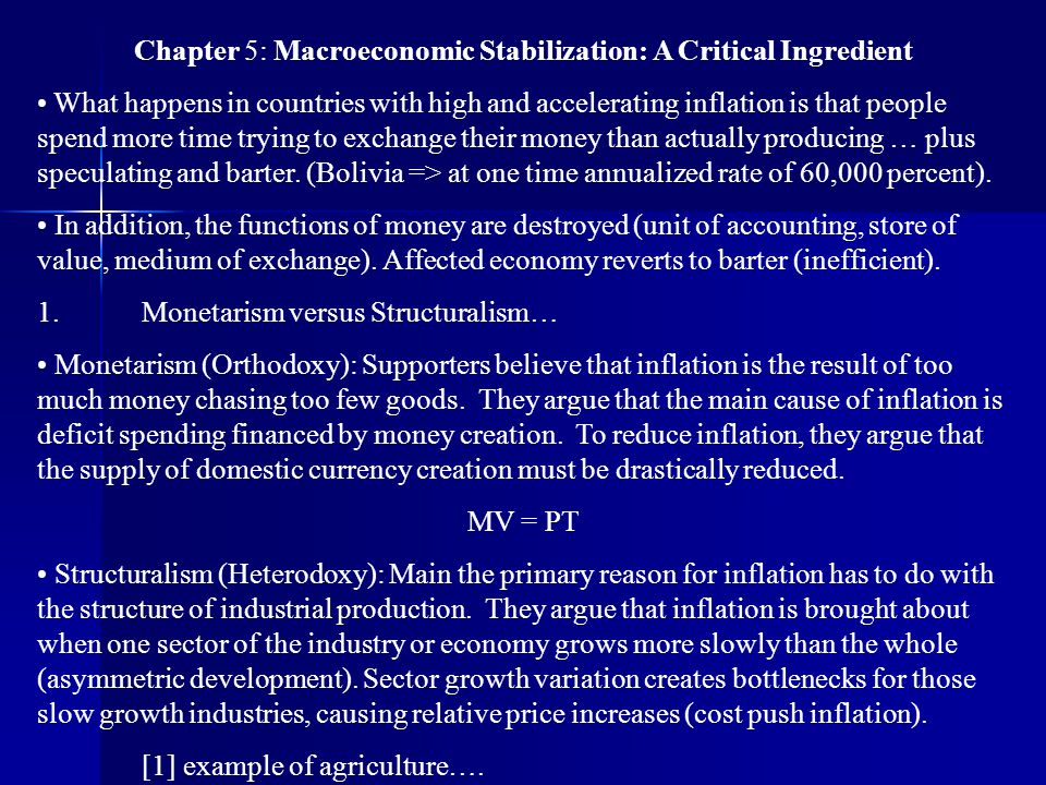 Chapter 5: Macroeconomic Stabilization: A Critical Ingredient