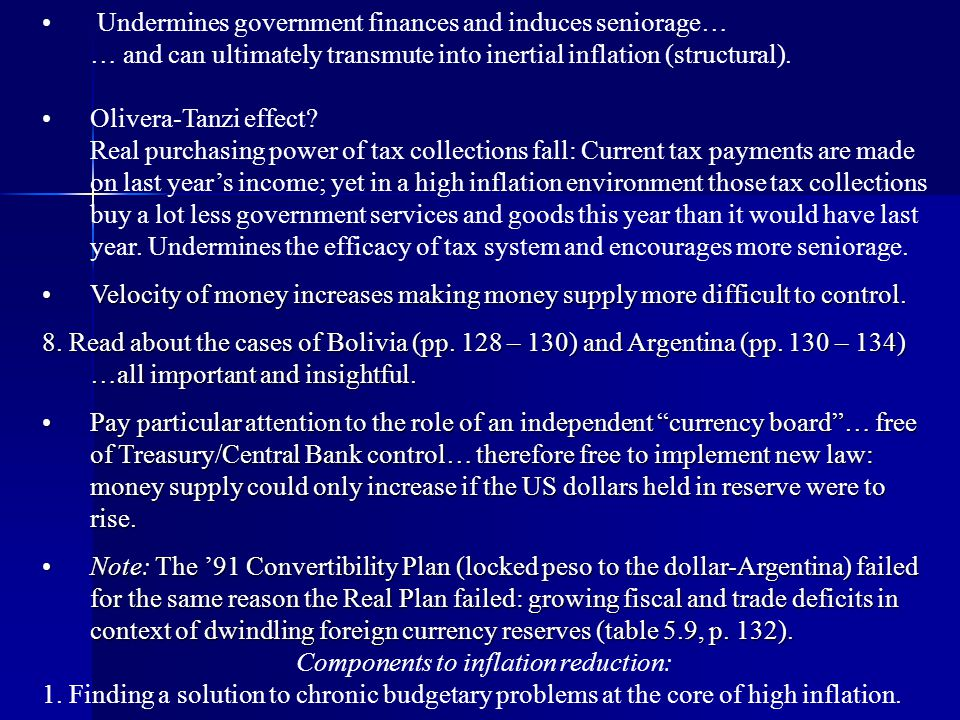 Components to inflation reduction: