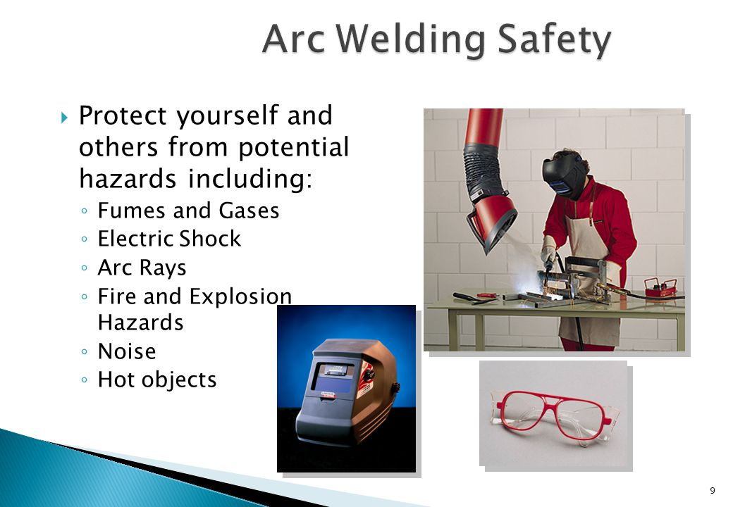 Arc Welding Safety Protect yourself and others from potential hazards including: Fumes and Gases.