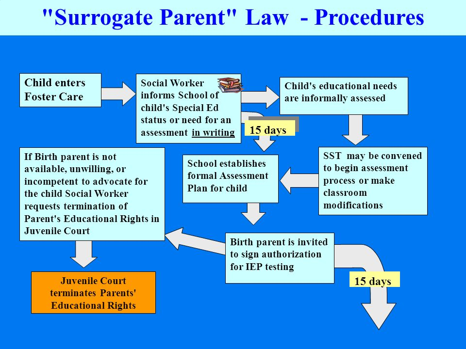 Surrogate Parent Law - Procedures