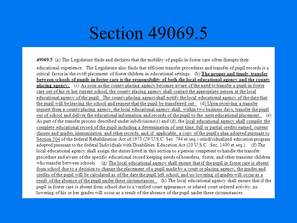 Section 49069.5