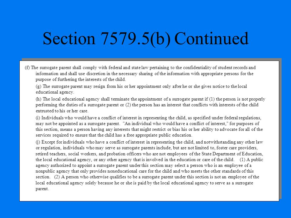 Section 7579.5(b) Continued