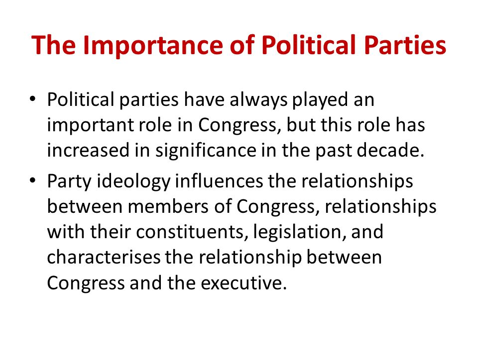 importance of party discipline Party discipline is important for all systems of government that allow parties to hold political power because it determines the degree to which the governmental.