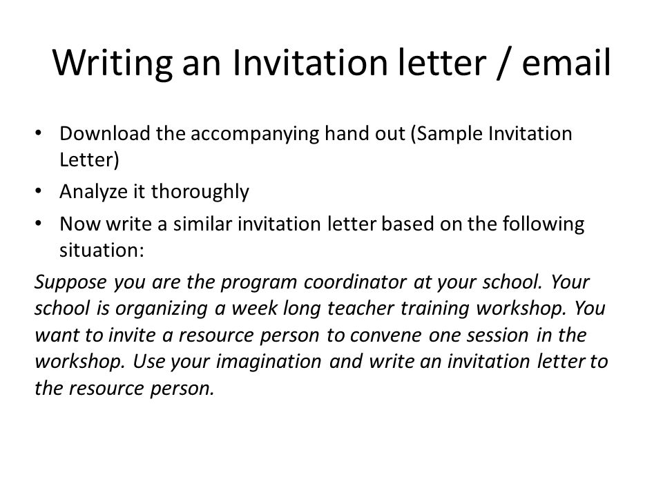 Social interactions inviting responding to invitations ppt writing an invitation letter email stopboris Gallery