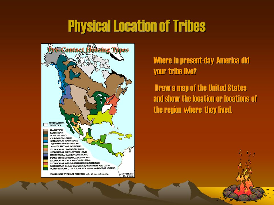 5 Physical Location Of Tribes