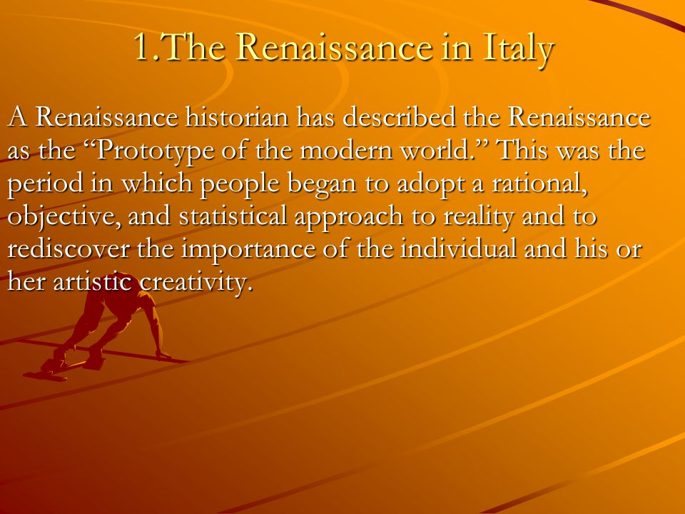 italian renaissance and the greco roman world Summary of renaissance architecture early renaissance ca 1400  through direct observation of roman  thus dominated the western world for the period ca.