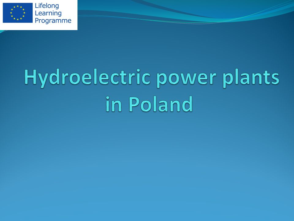 Hydroelectric power plants in Poland