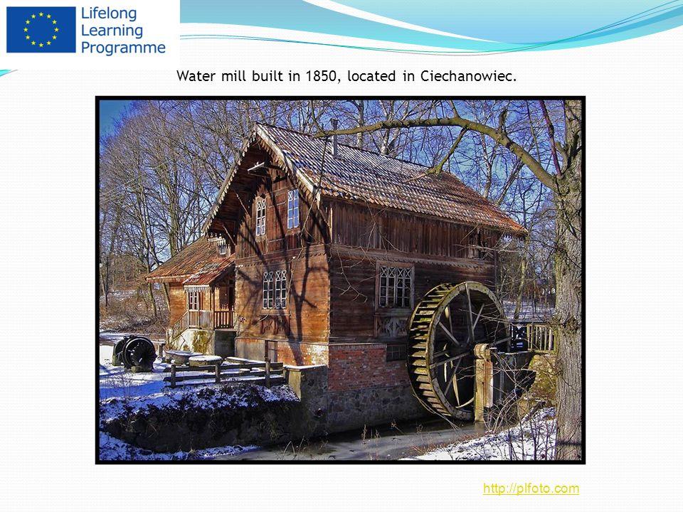 Water mill built in 1850, located in Ciechanowiec.